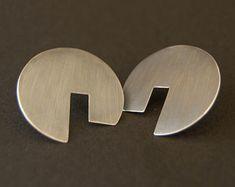 Geometrical handmade silver earrings,simple look silver earrings - Edit Listing - Etsy