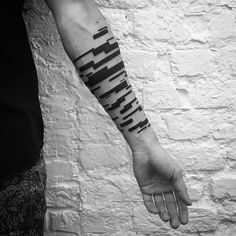 Digimatism: Abstract Geometric Tattoo Inspired by Digital Technology