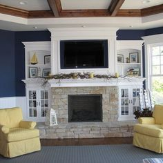 fireplace and tv combo ideas - Bing Images