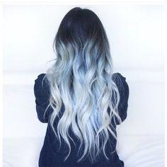 slate blue silver hair by Samantha