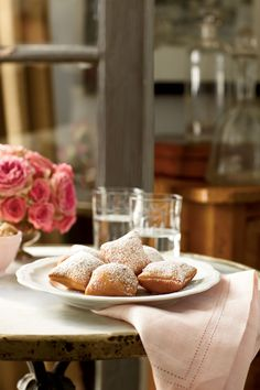 If you've never been to New Orleans, you can still get a taste of its cuisine with our recipe for New Orleans Beignets, the official state doughnut of Louisiana.Recipe: New Orleans Beignets Mardi Gras Appetizers, Mardi Gras Drinks, Mardi Gras Food, New Orleans Beignets Recipe, New Orleans Recipes, Appetizer Recipes, Dessert Recipes, Desserts, Donut Recipes