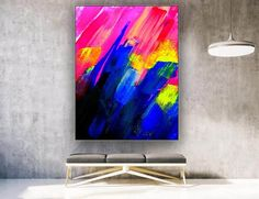Textured Wall Art Abstract Painting Dorm Decor Oil image 1