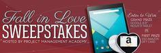 "Fall in Love Sweepstakes  Grand Prize Winner - Google Nexus 9 - 16GB - 8.9"" Indigo Black Tablet First Prize Winner - $50 Amazon Gift Card"