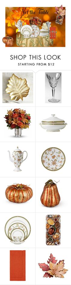 """""""Oberon Set the Table"""" by colonae ❤ liked on Polyvore featuring interior, interiors, interior design, home, home decor, interior decorating, Pier 1 Imports, Wedgwood, Improvements and Casetify"""