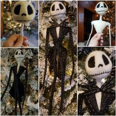 Jack skeleton. Needle Felt