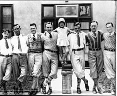 In 1926, animator Walt Disney, 25 (fourth from left), posed with his entire staff and Margie Gay, the star of his Alice in Cartoonland series. At the time, Disney's studio was rodent less - and struggling. Two years later, however, came along Steamboat Willie and a mouse named Mickey (whose pip squeak voice was provided by Walt himself.)