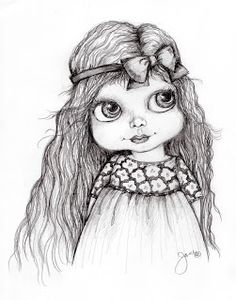 Coloring for adults-kleuren voor volwassenen Adult Coloring Book Pages, Coloring Books, Coloring Sheets, Sketches Of Girls Faces, Cartoon Pics, Cartoon People, Fairy Coloring, Eye Art, Art Journal Inspiration