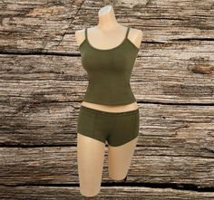 Slim fit Material: Cotton/Spandex blend Matching boy shorts also available was last modified: June 2019 Camo Lingerie, Workout Tank Tops, Lingerie Collection, Boy Shorts, Cotton Spandex, Attitude, Bodysuit, Booty, Camping