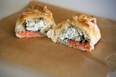 Smoked Salmon, Goat Cheese & Spinach Empanadas by bitchincamero, via Flickr