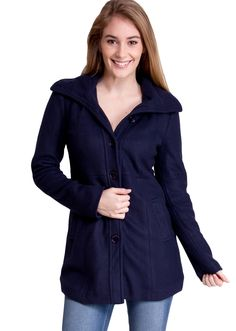 Hooded Winter Jacket J30539NB, clothing, clothes, womens clothing, jeans, tops, womens dress