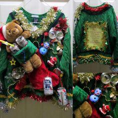 Drunken Hilarity Fun Adult Ugly Christmas by tackyuglychristmas