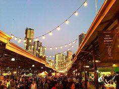 Night Market at Queen Vic Market. For foooood
