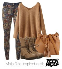 """Malia Tate inspired outfit/Teen Wolf"" by tvdsarahmichele ❤ liked on Polyvore featuring ALDO and Steve Madden"