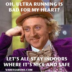 Oh, ultra running is bad for my heart?