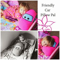 Friendly Car Pillow Pal By Amanda Nicole - Free Crochet Pattern - (mnecrafts)