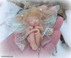 Sleeping Mouse Fairy Sprite Faery Pixie Magic Fantasy OOAK Art Doll Liz Amend