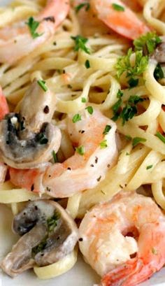 Shrimp and mushroom pasta