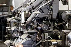 Photos of the Linotype and letterpress machines at Woodside Press in Brooklyn. Check out the video of them in action here: http://www.youtube.com/watch?v=8mFtroOIv3o