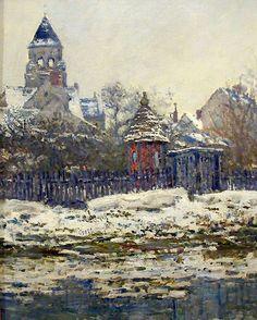 """""""Eglise de Vétheuil"""".   (1879).                         (by Claude Monet).  Museu d'Orsay."""