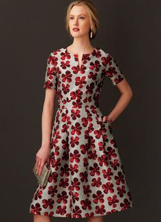 Vogue Easy Options Custom Fit dress pattern. V9267 MISSES' FIT-AND-FLARE DRESSES WITH WAISTBAND AND POCKETS