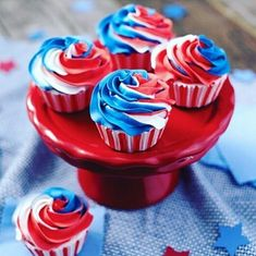 Happy 4th of July! is by @fanciesbyflossy  #bakersofinstagram #4thofjulycupcakes #redwhiteandblue #patriotic #cupcakes #cupcake