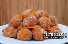 Learn how to make these delicious Portuguese fried orange dreams (sonhos de laranja). Donut Recipes, Tart Recipes, Dessert Recipes, Portuguese Desserts, Portuguese Recipes, Beignets, Orange Dream Recipe, Beignet Nature, Learn Portuguese