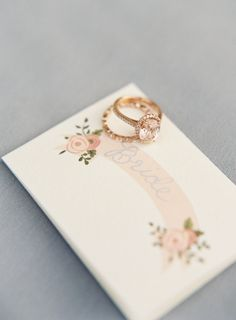 Rose gold engagement ring: http://www.stylemepretty.com/2016/07/15/how-to-plan-a-yes-way-rose-themed-wedding/