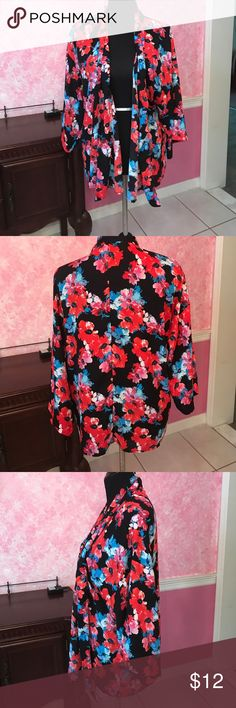 Forever21 Floral Kimono Forever21 floral kimono, medium, 100% polyester, hand was only Forever 21 Other