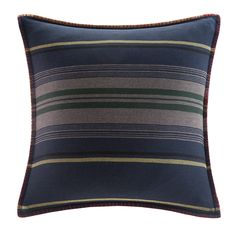 Deep River Yarn Dyed Stripe Throw Pillow