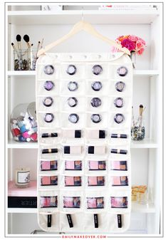 Another great multi-function organizer is a jewelry hanger: $25 from the container store:  http://www.containerstore.com/s/jewelry-storage/hanging/canvas-80-pocket-hanging-jewelry-organizer/12d?productId=10014111