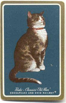 Chessie Cat Railroad Playing Card - Peake