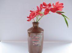 J. Bourne stoneware antique ink bottle by MaddyVintageHostess