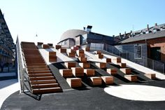 Read Danish architectural studio EFFEKT created an urban square in Amager Copenhagen that is perfect for music events cultural life and city life in general Auditorium Architecture, Stairs Architecture, Architecture Details, Landscape Architecture, Landscape Stairs, Urban Landscape, Landscape Design, Urban Intervention, Urban Furniture
