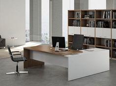 Escritorio de oficina con estantes Colección T45 by Quadrifoglio Sistemi d'Arredo diseño Centro Design Quadrifoglio