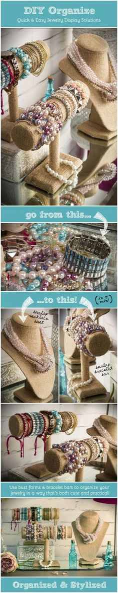 DIY Jewelry Organization Displays & Props