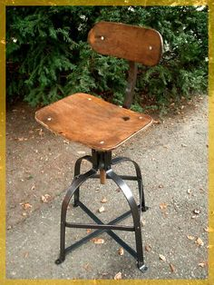FRENCH machine age Stool / industrial chair BIENAISE