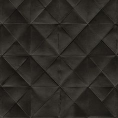 Boutique Diamond Shaped Black Tufted Wallpaper.  Free Shipping!
