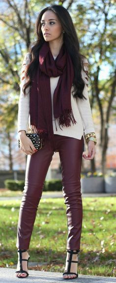 like the scarf color against the cream... plus would be good for me to keep in mind since i can't wear cream/white by itself w/o looking washed out