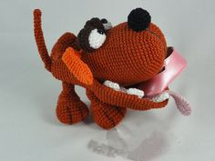 45.00$  Watch now - http://aliw2r.shopchina.info/go.php?t=32786464838 - Amigurumi Crochet The Dogster toy doll rattle  #SHOPPING