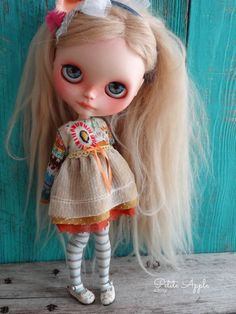 Blythe doll outfit Fun in the Sun grunge by PetiteAppleShop