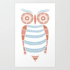 American Owl Art Print by swirvington - $16.00