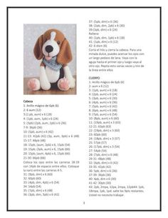 Crochet Dog Patterns, Amigurumi Patterns, Amigurumi Doll, Doll Patterns Free, Amigurumi Tutorial, Crochet Diy, Crochet Dolls, Crochet Bunny Pattern, Stuffed Animal Patterns
