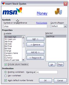 Msn Stock Quotes Unique Msn Money Stock Quotes Excel 2018  Essay Helper  Pinterest  Stock