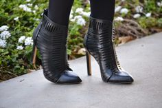 Gorgeous black cut out booties from @obshoes (via @dmcheever)