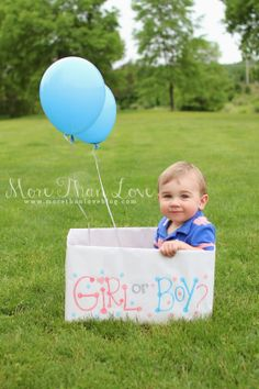 Gender Reveal idea with older sibling via More Than Love Blog | www.morethanloveblog.com  #genderreveal #babybrother