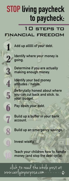 to STOP living paycheck to paycheck: 10 Steps to Financial Freedom financial freedom, budgeting tips, life hacks.financial freedom, budgeting tips, life hacks. Financial Peace, Financial Tips, Financial Planning, Financial Literacy, Financial Stress, Planning Excel, Planning Budget, Ways To Save Money, Money Tips