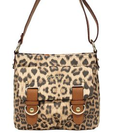 Love this Jessica Simpson Collection Leopard Sheila Crossbody Bag by Jessica Simpson Collection on #zulily! #zulilyfinds