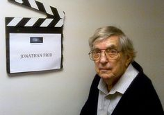 A candid picture of Jonathan Frid (Barnabas Collins) outside his dressing room on the day he shot his scene – July 1 2011.