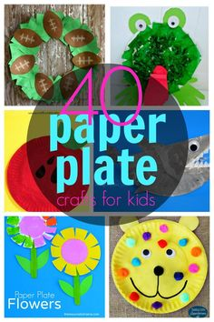 40 Fabulously Fun Paper Plate Crafts For Kids & Awesome A-Z paper plate crafts for every letter of the Alphabet ...