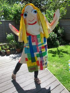"""Life-sized GIANT puppet! Inspired by """"Once there were Giants' by Martin Waddell, illustrated by Penny Dale."""